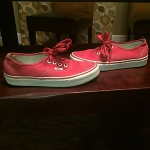 Vans New Era red canvas Sneakers